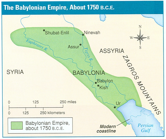 The Babylonian Empire Map