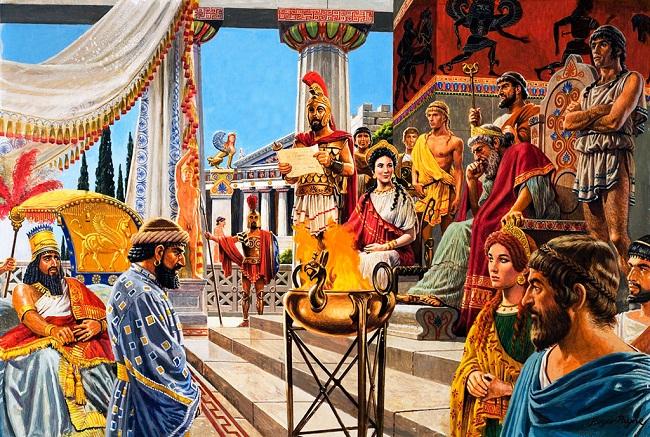 Thebes joins Xerxes