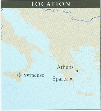 Location of Sicily