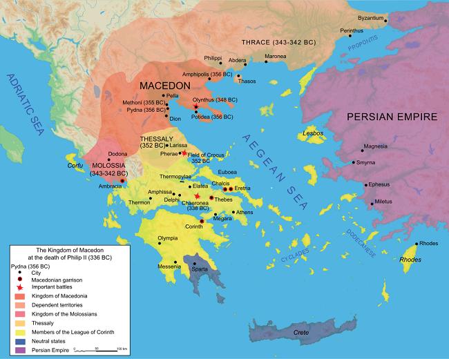 Macedonian Expansion Map
